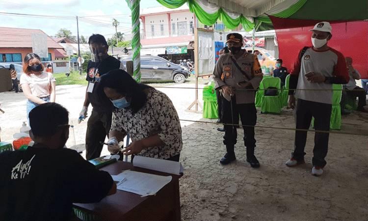 Suasana simulasi pemungutan suara di Kelurahan Kuala Kurun, Kamis, 26 November 2020.