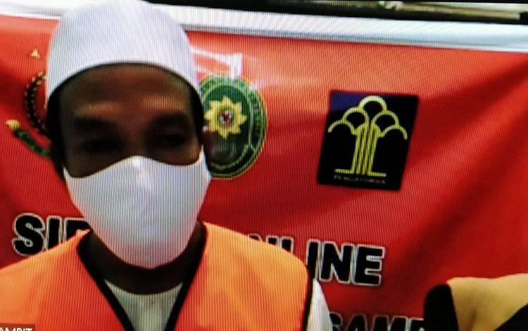 Zulkarnaen alias Nain terdakwa kasus penusukan.