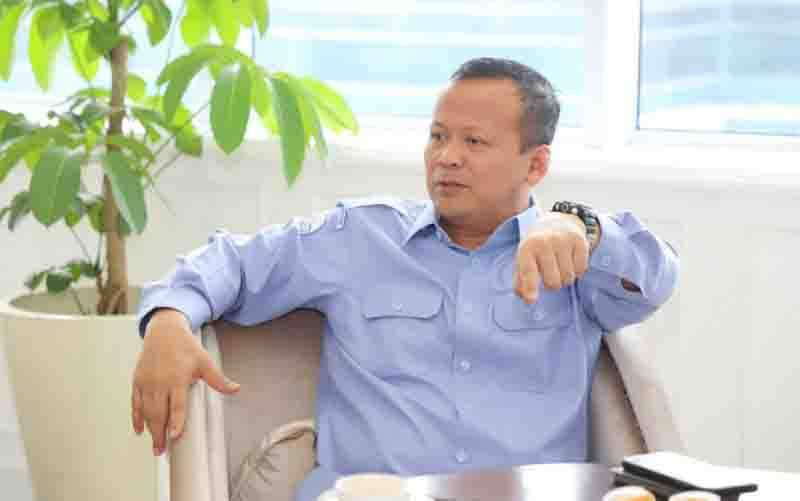 Edhy Prabowo saat masih menjadi Menteri Kelautan dan Perikanan. (foto : ANTARA/HO-Dok KKP)