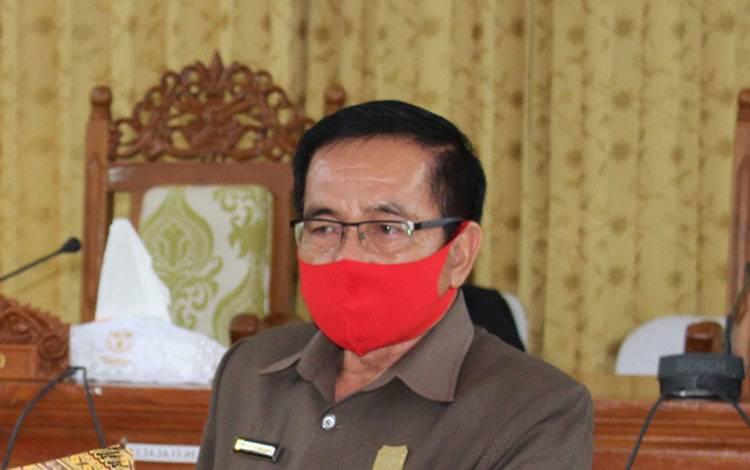 Ketua DPRD Kabupaten Gunung Mas, Akerman Sahidar.