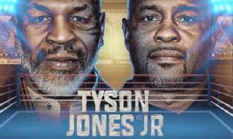 Poster Mike Tyson Vs Roy Jones Jr. Pertandingan akan digelar di California, 12 September 2020. (gamblingsites.org)