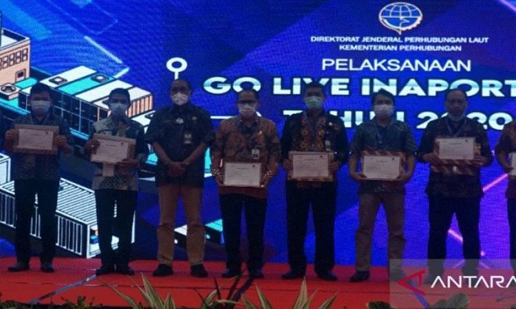 Kementerian Perhubungan meluncurkan pelaksanaan Go Live Inaportnet 2020, di kawasan wisata Senggigi, Kabupaten Lombok Barat, NTB, Senin (30/11/2020). ANTARA/Awaludin