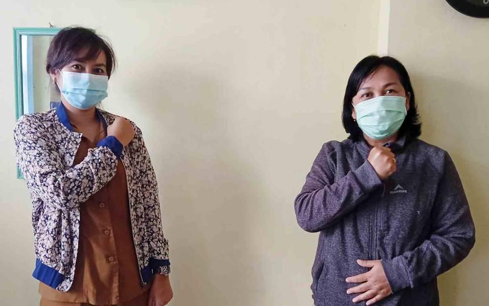 Kasi Pencegahan dan Pengendalian Penyakit Menular Dinas Kesehatan Barito Timur, Mayerni (kanan)