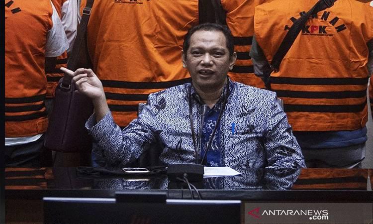 Pimpinan KPK, Nurul Ghufron menyampaikan keterangan pers di gedung KPK, Jakarta, Rabu (22/7/2020). (ANTARA FOTO/Nova Wahyudi/foc/aa.)