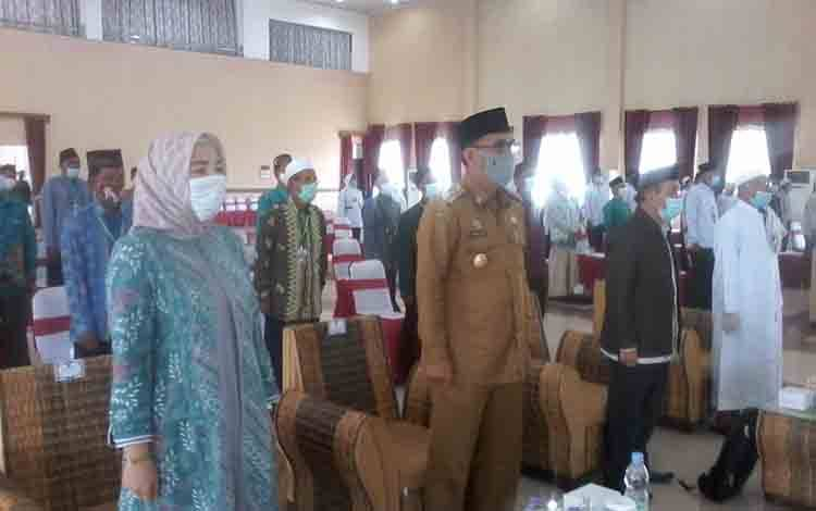 Wakil Bupati Katingan Sunardi Litang menghadiri Musda IV MUI di Gedung Salawah.