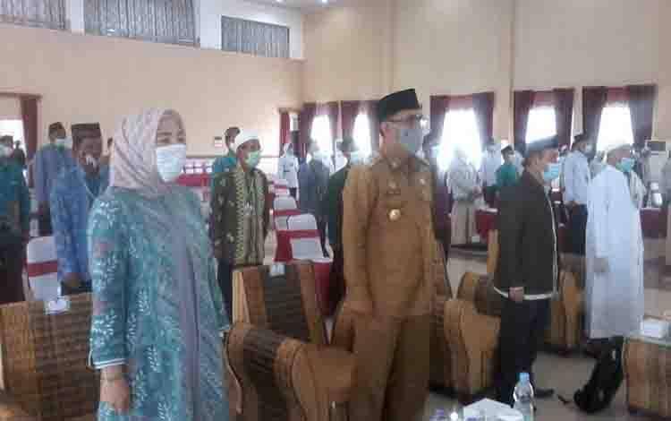 Wakil Bupati Katingan Sunardi Litang saat menghadiri Musda IV MUI di Gedung Salawah.