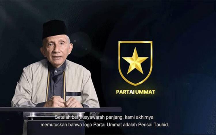 Amien Rais mengumumkan 'Perisai Tauhid' sebagai logo Partai Ummat, Selasa, 10 November 2020. Sumber: Youtube Amien Rais Official.