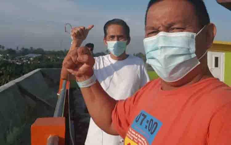 Wakil Ketua I dan II DPRD Kobar saat menjalani isolasi di RSUD Sultan Imanuddin Pangkalan Bun.