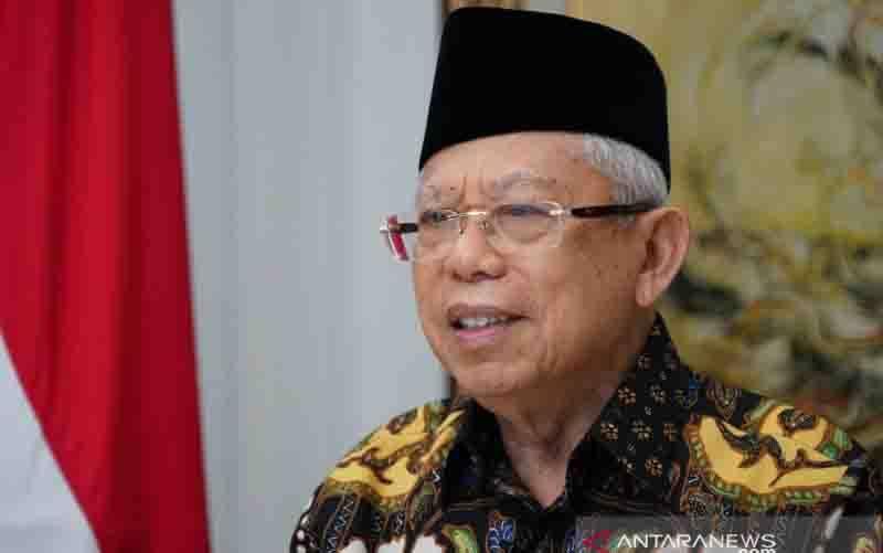 Wakil Presiden Ma'ruf Amin menutup rangkaian Muktamar IX Partai Persatuan Pembangunan (PPP) secara virtual dari rumah dinas wapres di Jakarta, Minggu (20/12/2020). (foto : Asdep Komunikasi dan Informasi Publik (KIP) Setwapres)