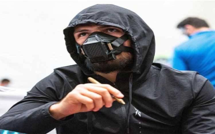 Khabib looked like Bane from Batman when he arrived on Fight IslandCredit: UFC