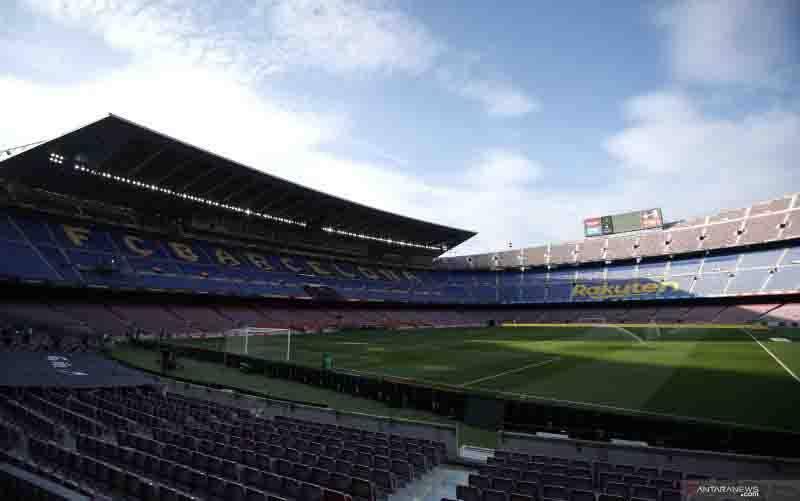 Stadion Camp Nou.(foto : ANTARA/REUTERS/ALBERT GEA)