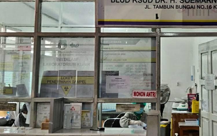 Ruang laboratorium klinik RSUD dr Soemarno Sosroatmodjo Kuala Kapuas.