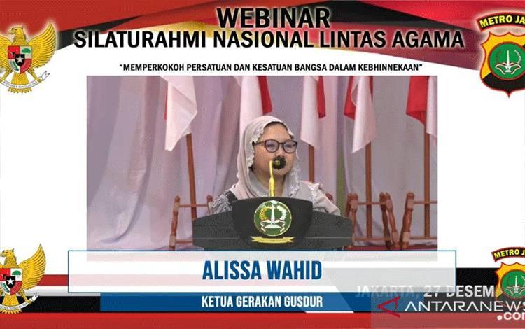 Alissa Qotrunnada Munawaroh Wahida atau Alissa. ANTARA/Muhammad Zulfikar