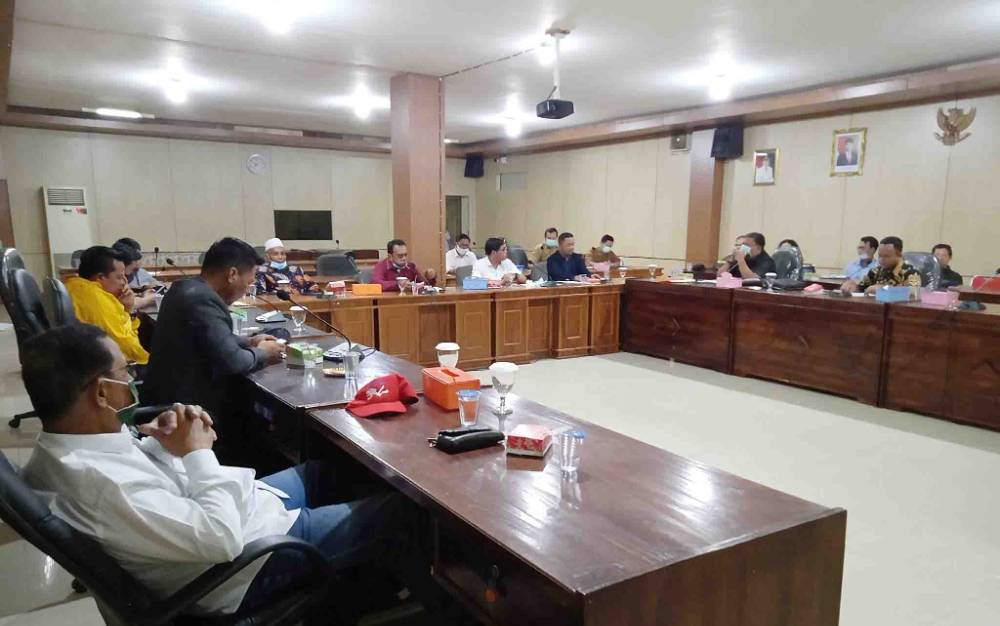 Kunjungan kerja rombongan Komisi I DPRD Kutai Kartanegara ke DPRD Barito Timur, Selasa, 5 Januari 2021.