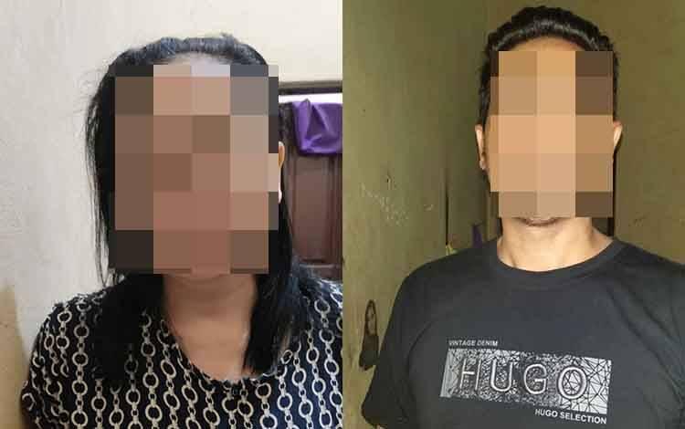 Kusnadi alias Ikus (43 tahun ) dan Bintari Diah Astuti alias Bintari alias Tuti (45 tahun) saat diamankan.