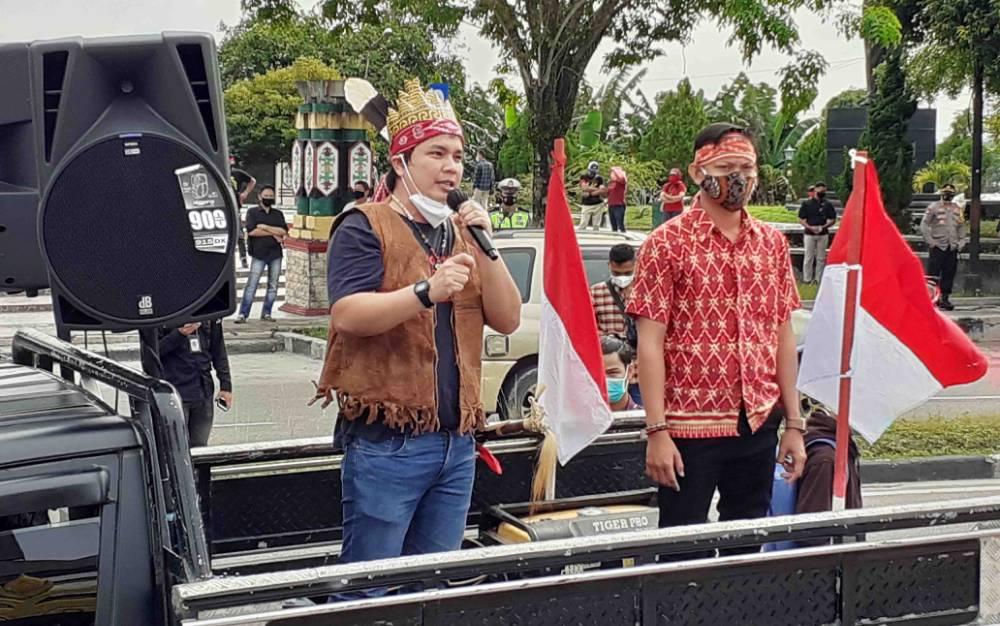 Aksi Penolakan Pemekaran Kotawaringin Tetap Digelar Meski Tak Diizinkan Satgas Covid-19