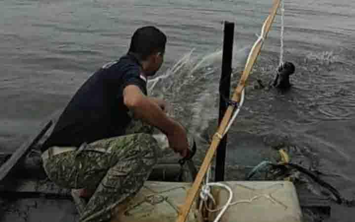 Awas, Buaya Masih Kerap Muncul di Sungai Mentaya Wilayah Bagendang