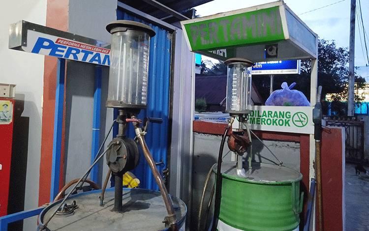 BBM Eceran di Kota Tamiang Layang Kosong