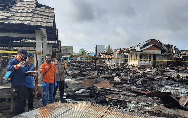 Pasar Bahaur Terbakar: 23 Kios, 9 Rumah, dan 6 Gedung Walet Ludes