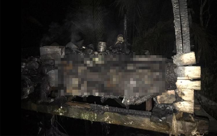 Kebakaran Pondok di Pulau Rambai Hanaut, 1 Orang Terbakar