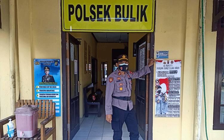 Spanduk 4 fokus Kapolda Kalteng kini terpampang di Polsek Bulik.
