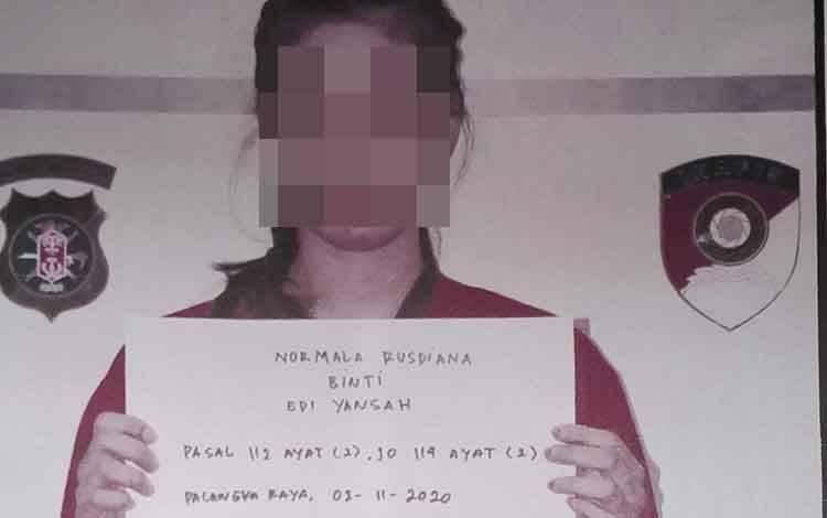 Nurmala Rusdiana alias Maka tersangka kasus sabu