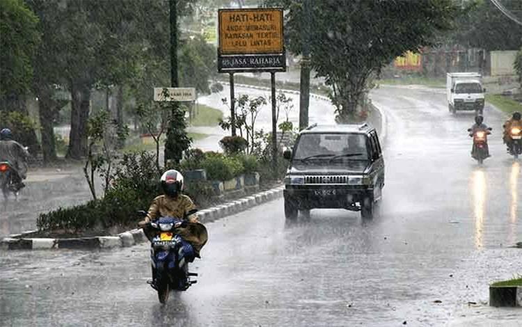 Dalam seminggu kedepan hujan diperkirakan merata di seluruh Kalteng.