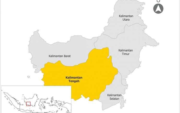 Peta kawasan Kalimantan Tengah. (foto : istimewa)