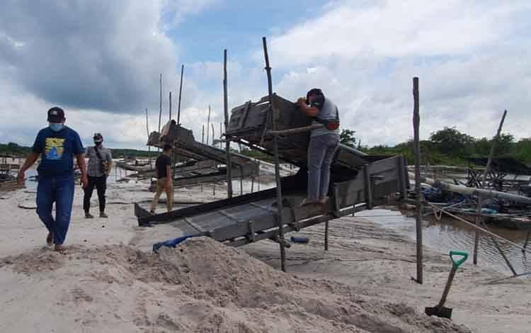 Satreskrim Polres Kotim Bongkar Aktivitas Pertambangan Ilegal di Desa Pundu