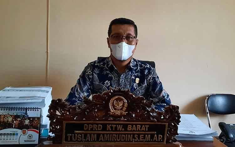 Wakil Ketua Komisi C DPRD Kobar, Tuslam Amirudin