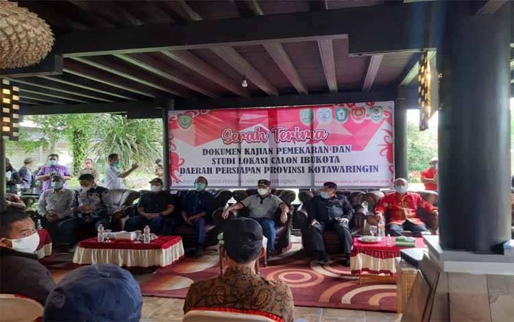 Kunjungan Gubernur Kalteng Sugianto Sabran ke calon ibukota Provinsi Kotawaringin beberapa waktu lalu