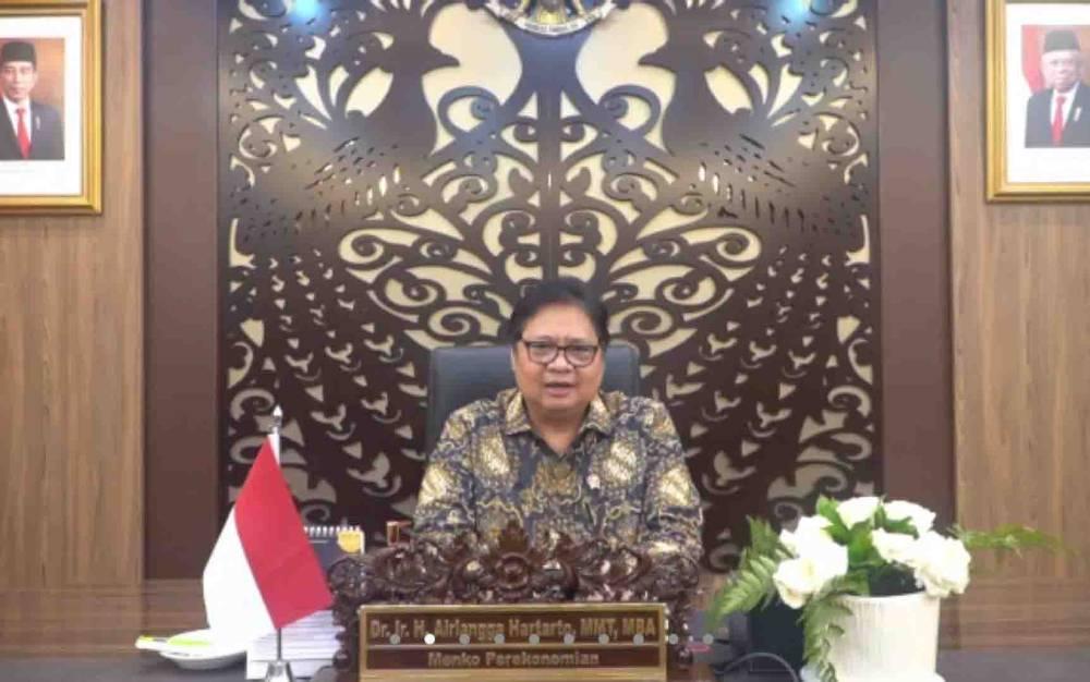 Menteri Koordinator atau Menko Bidang Perekonomian Indonesia, Airlangga Hartarto