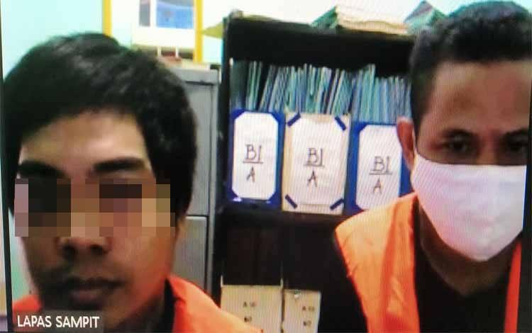 Syahrul alias Along dan Isnaini Sugandi alias Iis terdakwa kasus narkotika