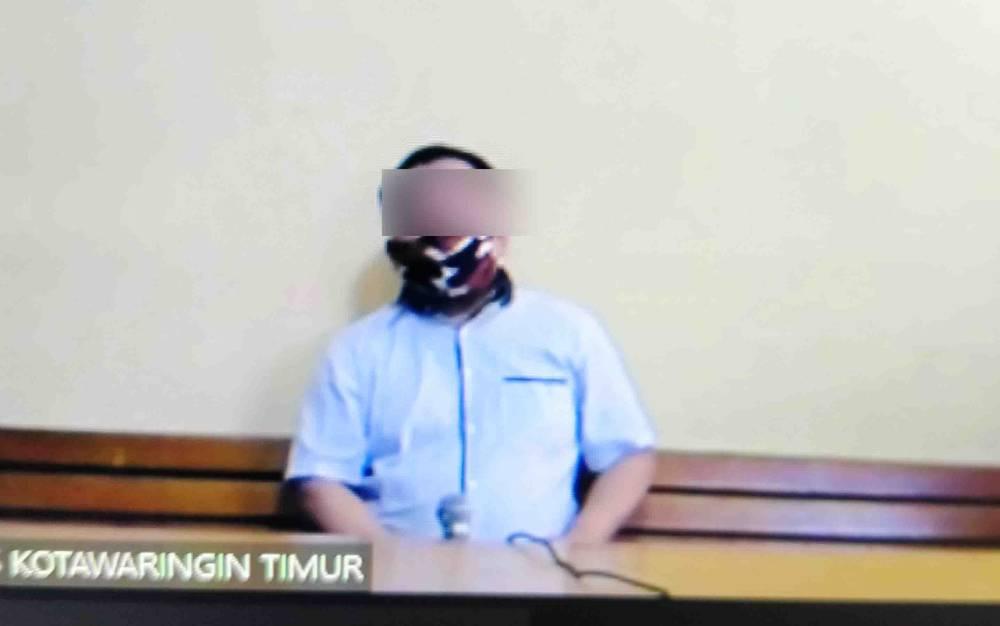 Tubagus Wijaya alias Amsir terdakwa kasus narkoba.