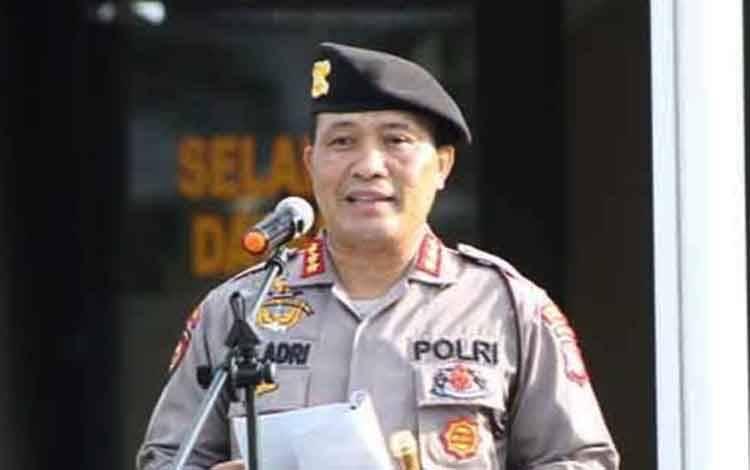 Kapolresta Palangka Raya Kombes Dwi Tunggal Jaladri.