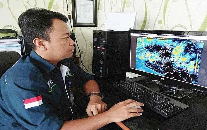 Kepala Stasiun Meteorologi Sanggu Barito Selatan, Nur Setiawan.
