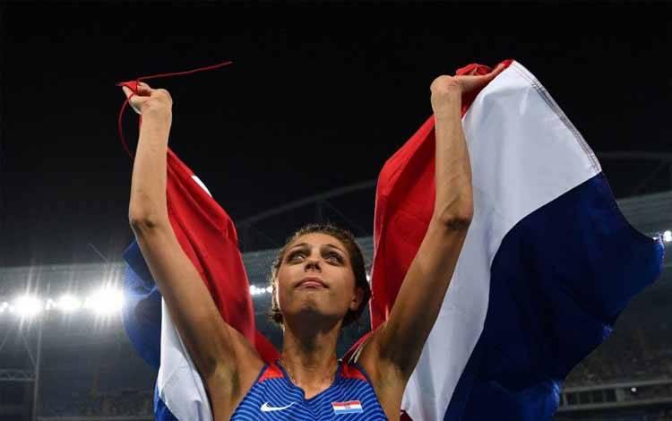Atlet lompat tinggi Kroasia Blanka Vlasic saat beraksi dalam Olimpiade Rio 2016 di Stadion Olimpiade Rio de Janeiro pada 20 Agustus 2016