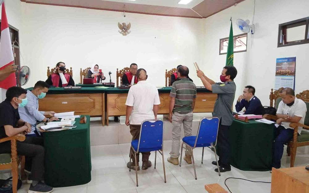 Sidang lanjutan perkara perdata antara PT BCL dan PT ABC di Pengadilan Negeri Tamiang Layang