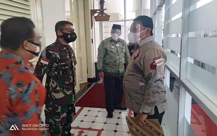 Bupati Pulpis Hadiri Rakornas pengendalian kebakaran hutan dan lahan di Istana Negara, Jakarta, Senin (22/2/2021).