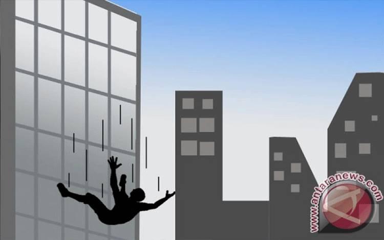 Ilustrasi terjatuh dari gedung (ANTARA News/Ridwan Triatmodjo)