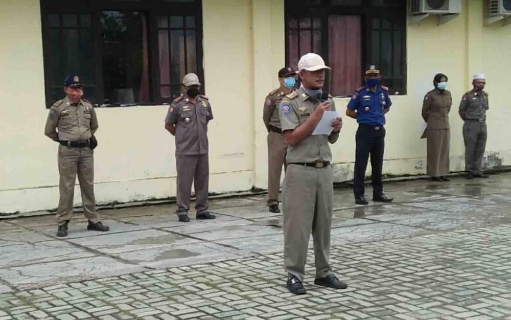 Peringatan HUT Satpol PP, Linmas, dan Damkar di Kabupaten Kapuas, Rabu, 3 Maret 2021.