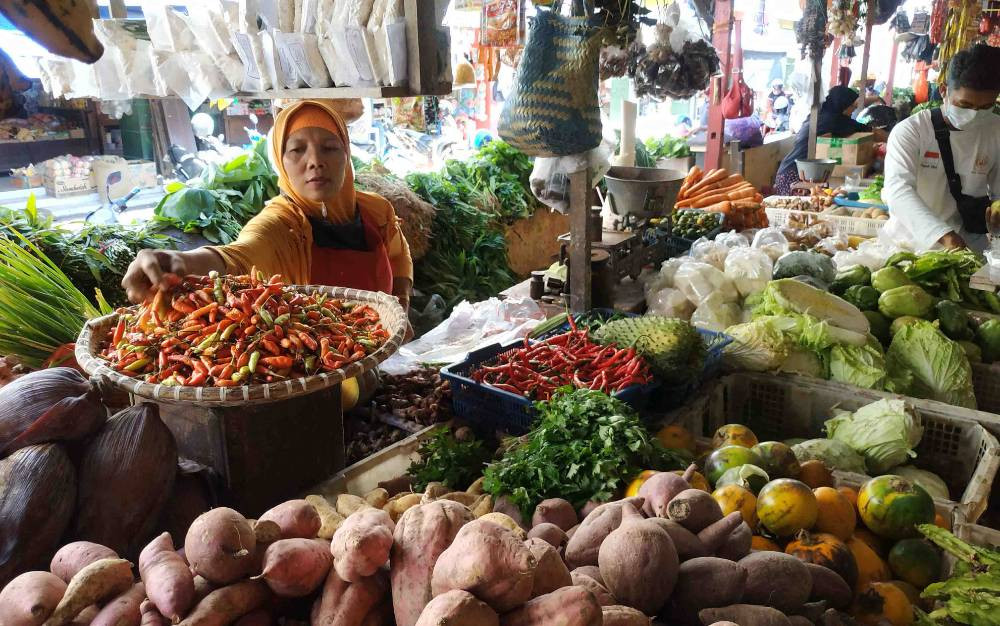Harga cabai di pasar Kuala Pembuang terus merangkak naik