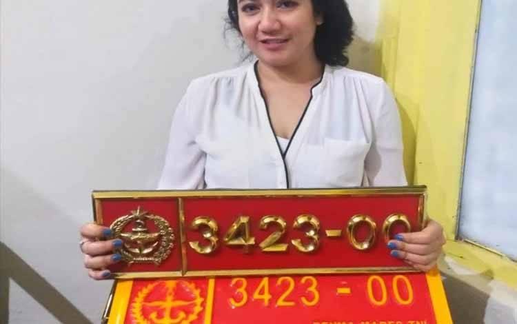 RHK, pelaku yang menggunakan pelat nomor dinas TNI palsu diamankan POM TNI