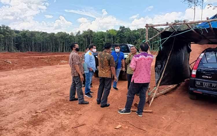 Tim dari Pemkab Kotim turun ke areal galian C yang diduga ilegal