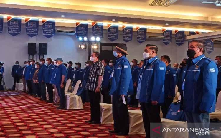 Sejumlah petinggi Partai Demokrat mulai berdatangan ke lokasi acara Kongres Luar Biasa (KLB) yang digelar di Hotel The Hill, Sibolangit, Kabupaten Deli Serdang, Sumatera Utara