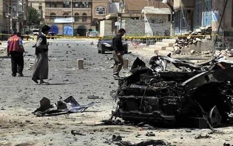 Selasa (29/10/2020), serangan roket oleh gerilyawan Al-Houthi di Provinsi Maarib di bagian barat-daya Yaman
