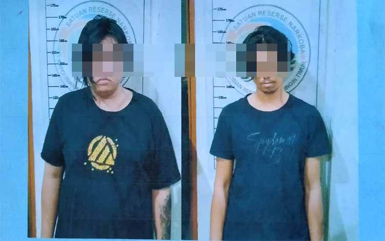 Irfansyah alias Ifan dan Febri Maulana alias Epeb tersangka sabu