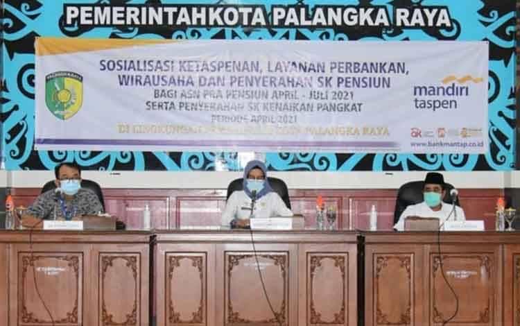 Sosialisasi terbatas ketaspenan dan pensiun serta Workshop kewirausahaan ASN, Rabu 10 Maret 2021.