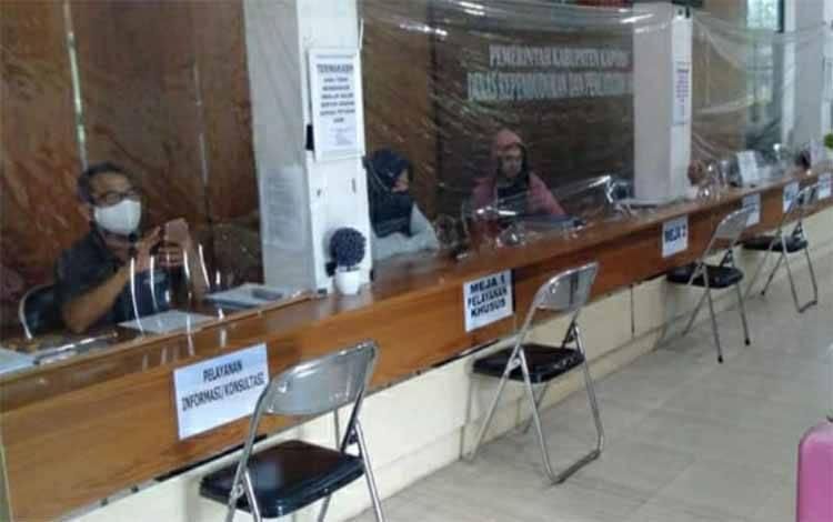 Pelayanan di Kantor Dinas Kependudukan dan Pencatatan Sipil Kabupaten Kapuas