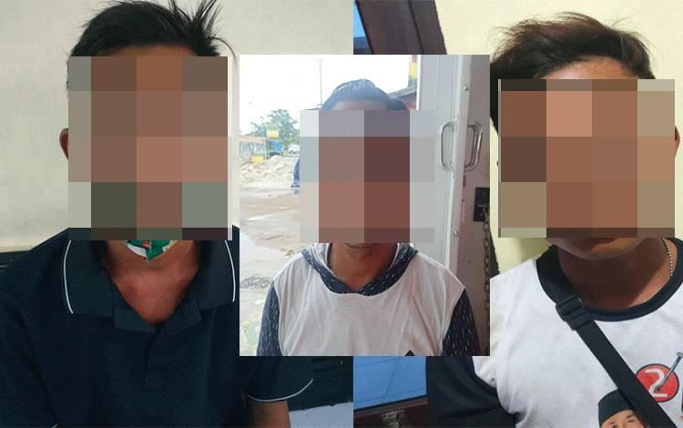 Ketiga pelaku terlibat perkelahian di depan karaoke NAV diamankan polisi.